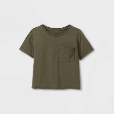 Girls' Boxy Pocket Short Sleeve T-Shirt - art class™