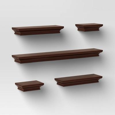 5pc Traditional Shelf Set Brown - Threshold™