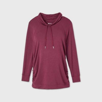Maternity Sweatshirt - Isabel Maternity by Ingrid & Isabel™ Dark Red M