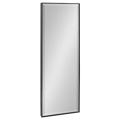 "16.7"" x 48.7"" Rhodes Full Length Wall Mirror Black - Kate & Laurel All Things Decor"