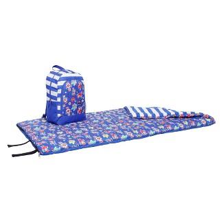 Crckt Kids Robot Backpack 50 Degree Sleeping Bag - Blue