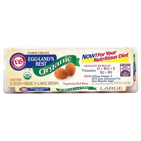 Eggland's Best Organic Grade A Large Brown Eggs - 12ct - image 1 of 4