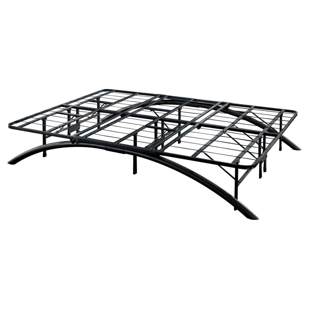 Image of Arch Support Metal Platform Bed Frame Black (Full) - Eco Dream