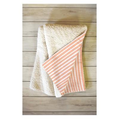 50 x 60 Little Arrow Design Co Stripes Throw Blanket Orange - Deny Designs
