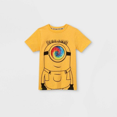 Boys' Universal Minions Flip Sequin Short Sleeve T-Shirt - Gold