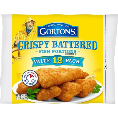 Gorton's Crispy Battered Fish Portions - Frozen - 24.5oz/12ct