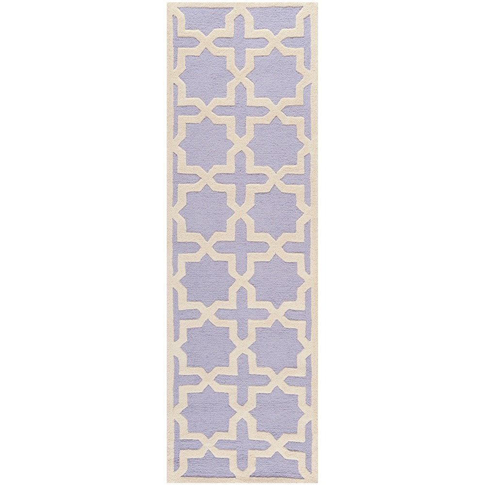 2'6X8' Trellis Runner Lavender/Ivory (Purple/Ivory) - Safavieh