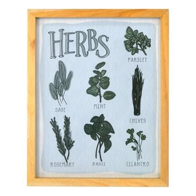 Herbs Framed Glass Flush Mount 8 x 10 - Threshold™