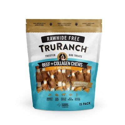 TruRanch Collagen Skewers Rawhide Free Dog Treats - 15ct