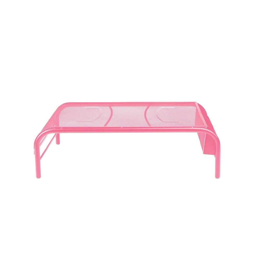 Image of Mind Reader Mesh Monitor Stand/Riser Pink