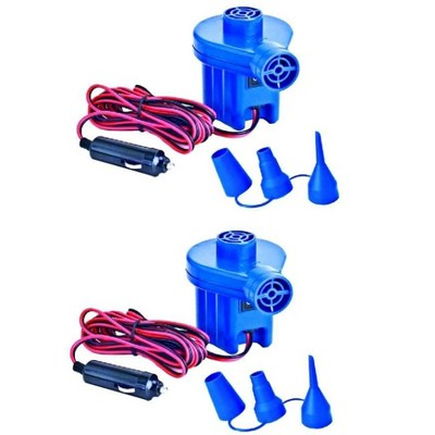 2) Swimline 19150 12 Volt Inflator Electric Air Pumps Pool Inflatables w/Nozzles
