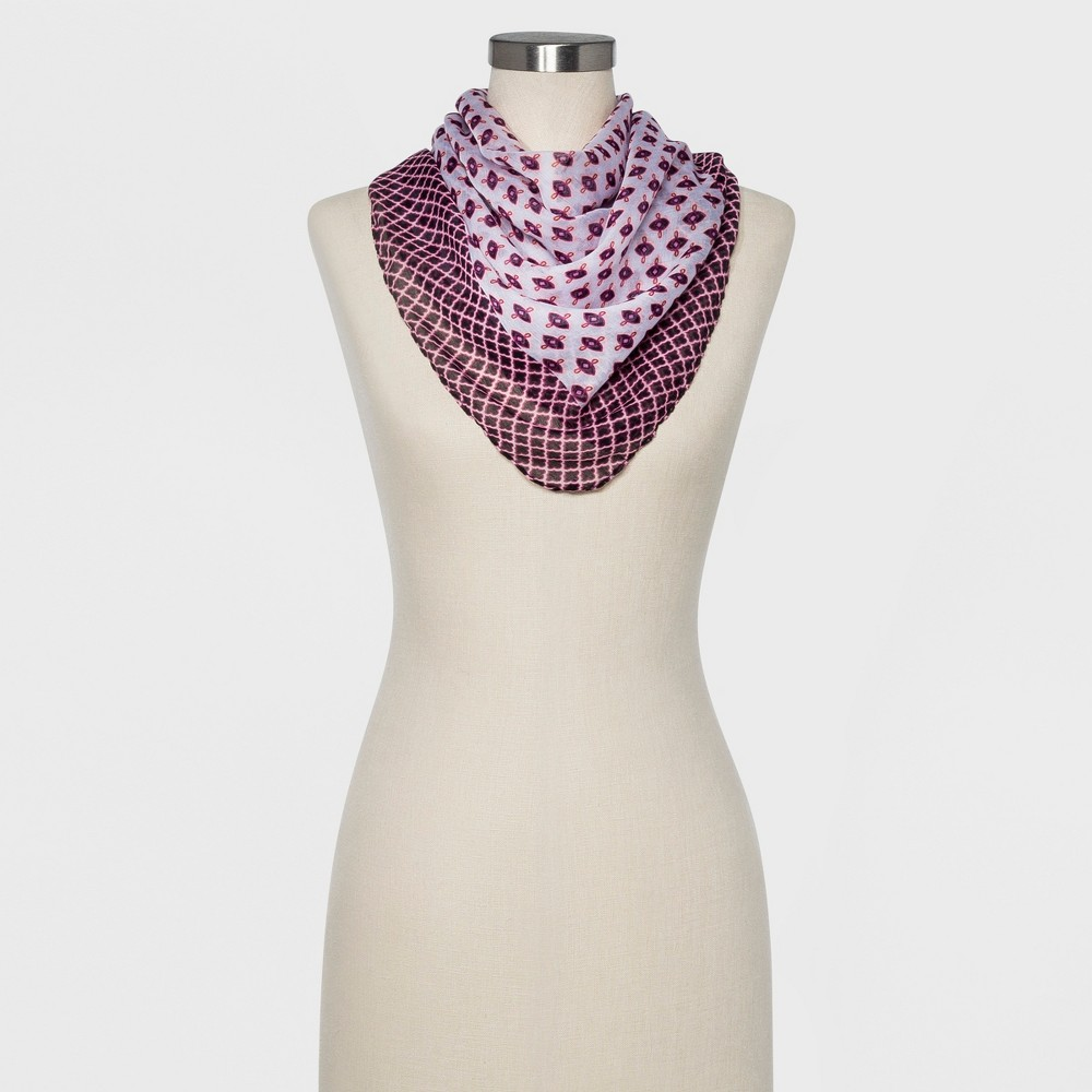 Women's Recycled Square Scarf - A New Day Lavender, Lavendar