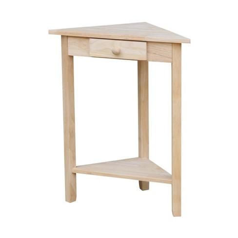 Corner End Table Unfinished - International Concepts - image 1 of 4