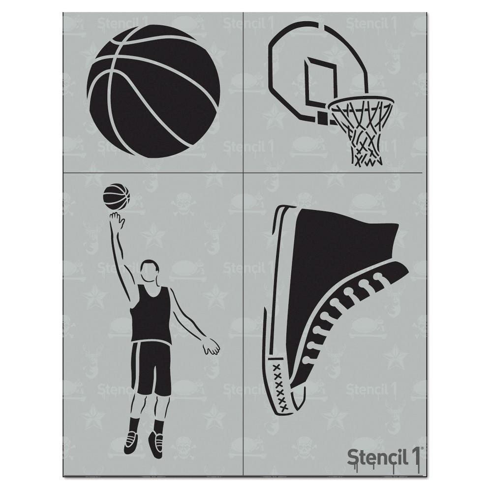 Stencil1 Basketball Multipack 4ct - Stencil 8.5