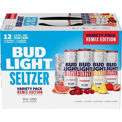 Bud Light Hard Seltzer Remix Variety Pack - 12pk/12 fl oz Slim Cans