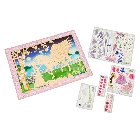 Melissa & Doug Peel and Press Sticker by Number Kit: Mystical Unicorn - 100+ Stickers, Jumbo Frame image number null