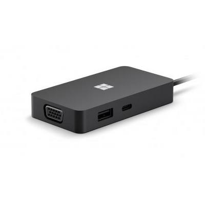 Microsoft USB-C Travel Hub - 1 x USB-C @ 10Gbps pass-through charging - 1 x USB-A 3.2 Gen 2 @ 10Gbps pass-through charging