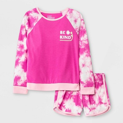 Girls' 2pc Tie-Dye Pajama Set - Cat & Jack™ Purple