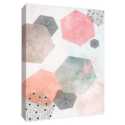 "11"" x 14"" Fancy Hexagon Decorative Wall Art - PTM Images"