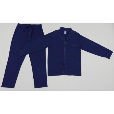 Hanes Men's Long Sleeve Lounge Pajama Set - Indigo Blue