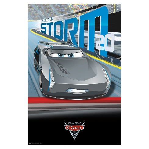 Cars 3 Storm Poster 34x22 - Trends International - image 1 of 2