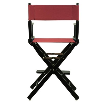 Burgundy Counter Height Director's Chair, Red