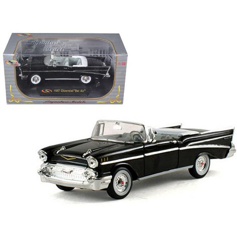 1957 Chevrolet Bel Air Convertible Black 1/32 Diecast Model Car by Signature Models - image 1 of 1