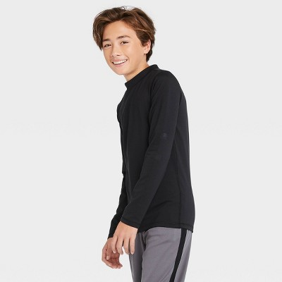 Boys' Long Sleeve Fitted Performance Mock Neck T-Shirt - All in Motion™