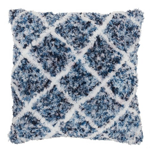 "24""x24"" Life Styles Sprinkle Dye Lattice Throw Pillow Navy - Mina Victory - image 1 of 4"