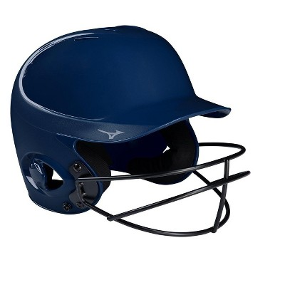 Mizuno Mvp Series Solid Batting Helmet With Fastpitch Softball Mask