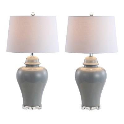 "Set of 2) 27.25"" Winnie Ceramic Urn Table Lamp (Includes Energy Efficient Light Bulb) - JONATHAN Y"