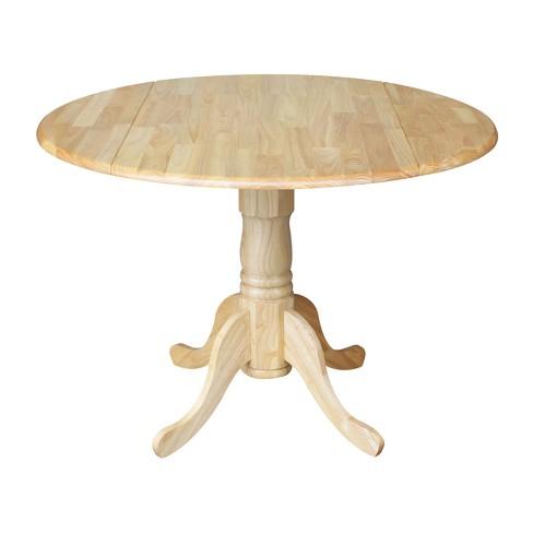 af486866bc7 Round Drop-Leaf Pedestal Dining Table - International Concepts   Target