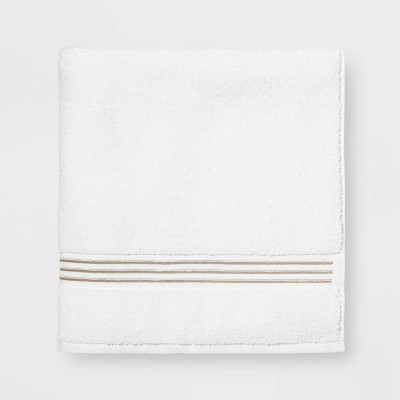 Spa Bath Sheet Taupe Stripe - Threshold Signature™