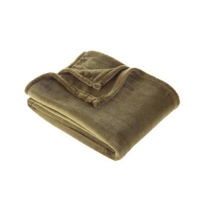 Plush Throw Blanket Dark Green - Room Essentials™