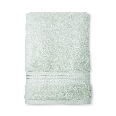 Spa Solid Bath Towel Gray Mint - Fieldcrest®