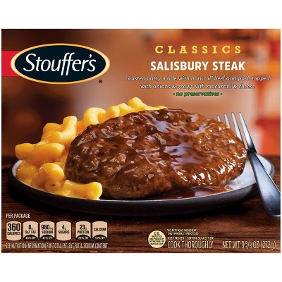 Stouffer's Homestyle Classics Frozen Salisbury Steak with Macaroni and Cheese - 9.625oz