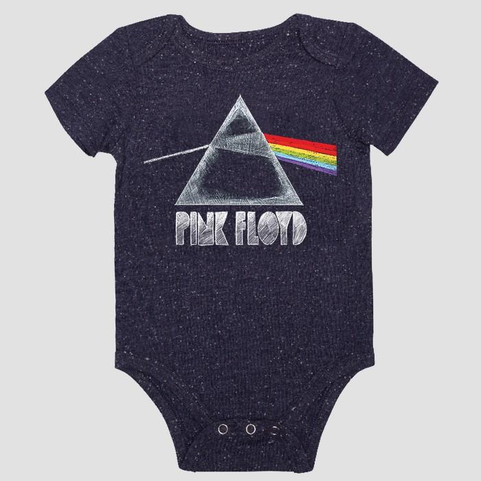 Baby Boys' Pink Floyd Short Sleeve Bodysuit - Navy - image 1 of 2