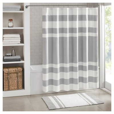 Spa Waffle Shower Curtain with 3M Treatment - Gray