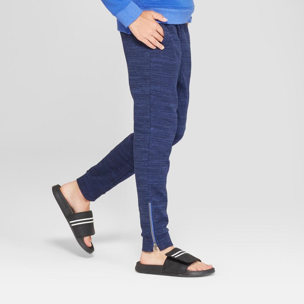 Boys' Knit Jogger Pants - Cat & Jack Navy L Husky, Blue