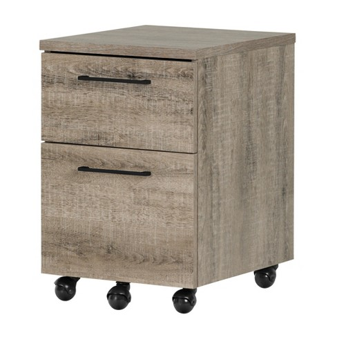 Munich 2 - Drawer Mobile File Cabinet - Weathered Oak - South Shore - image 1 of 8