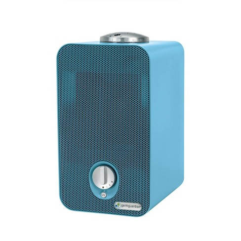 """GermGuardian 11"""" AC4150BLCA 4 in 1 Night HEPA Air Purifier System with UV Sanitizer Odor Reduction and projector  Table Top Tower Blue - image 1 of 3"""