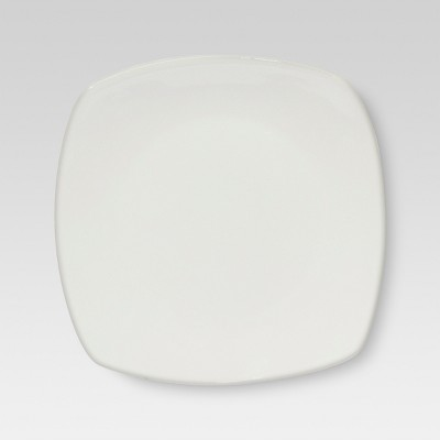 Rounded Square Dinner Plate 12x10in Porcelain - Threshold™