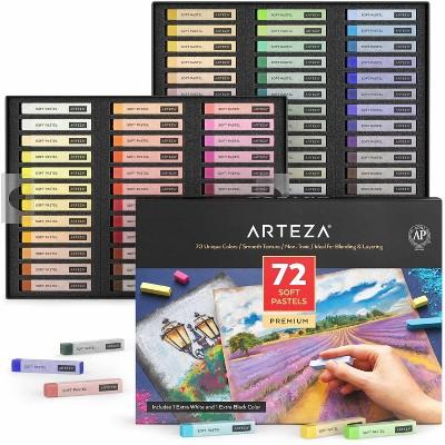 Arteza Soft Pastels Art Supply Set, Artist-Grade Soft Pastel Sticks for Arts & Crafts Projects - 72 Pack (ARTZ-3230)