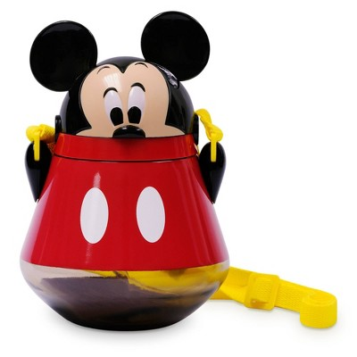 Disney Mickey Mouse & Friends 22oz Plastic Flip Top Tumbler with Strap Red