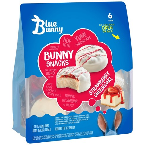 Blue Bunny Strawberry Cheesecake Snacks Ice Cream