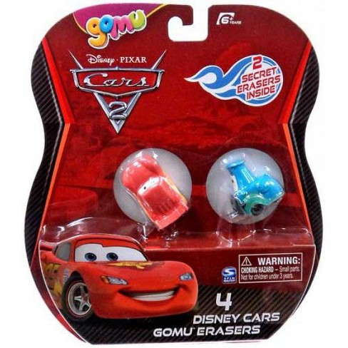 Disney / Pixar Cars Cars 2 Gomu Lightning McQueen and Guido Gomu Erasers 4-Pack - image 1 of 1