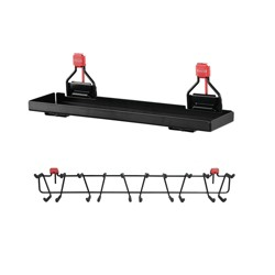 "Rubbermaid Metal Shed Accessory Shelf & 50lb Capacity 34"" Storage Shed Tool Rack"