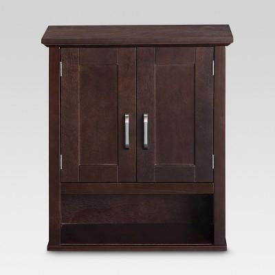 Wood Wall Cabinet Espresso - Threshold™