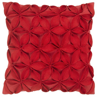 """18""""x18"""" Botanical Petals Solid Square Throw Pillow Cover - Rizzy Home"""