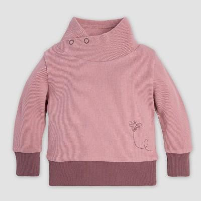 Burt's Bees Baby® Baby Girls' Organic Cotton Thermal Tunic Pullovers - Pink 0-3M